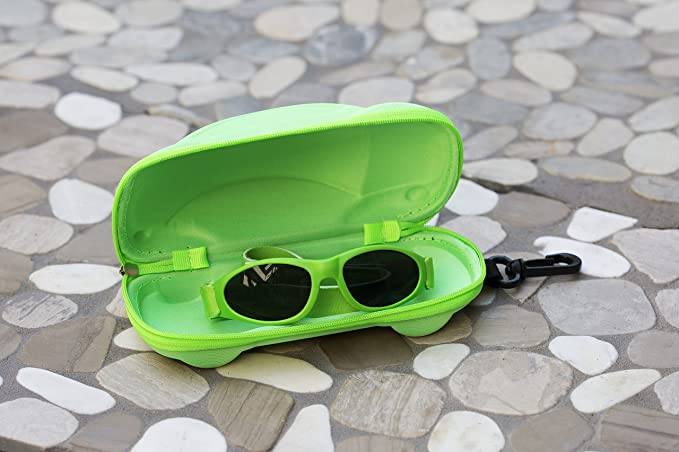 UVA//UVB Protection Green with Adjustable Strap and Case 0 to 2 Years Little Llama Infant Sunglasses