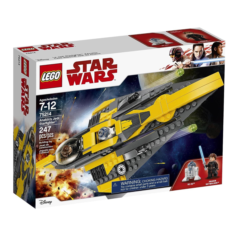 d51d9a3cf88c Amazon.com: LEGO Star Wars: The Clone Wars Anakin's Jedi Starfighter 75214  Building Kit (247 Piece): Toys & Games