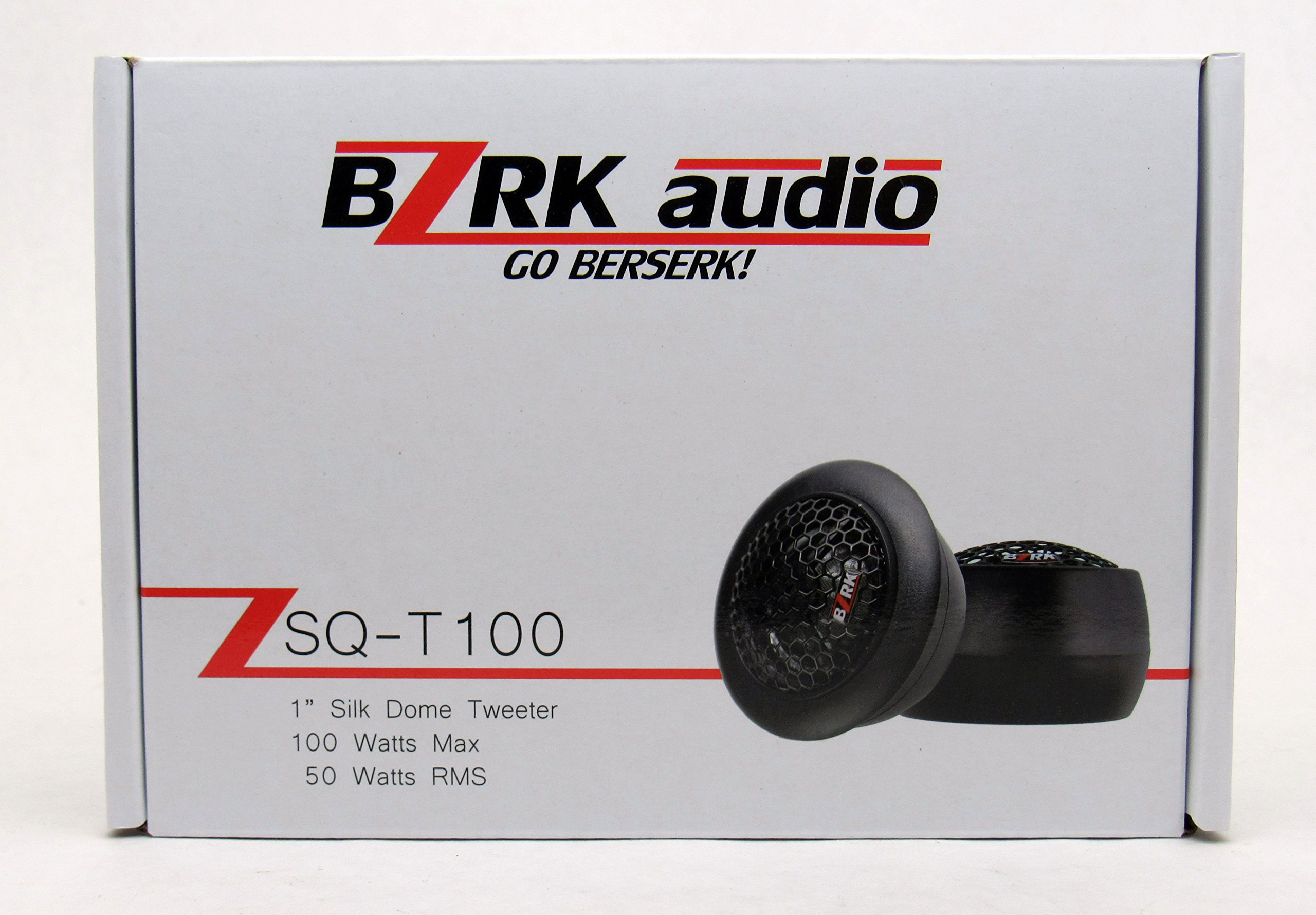 BZRK Audio Component Tweeters by 1'' Silk Dome 100 watts - Flush or Surface Mount for Car by BZRK Audio (Image #5)