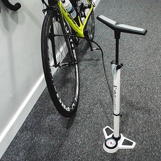 VeloChampion Bomba Pro De Bicicleta Profesional De Bastidor/Pie con Manómetro - La Mejor High Pressure Track Pump (Blanco): Amazon.es: Deportes y aire libre