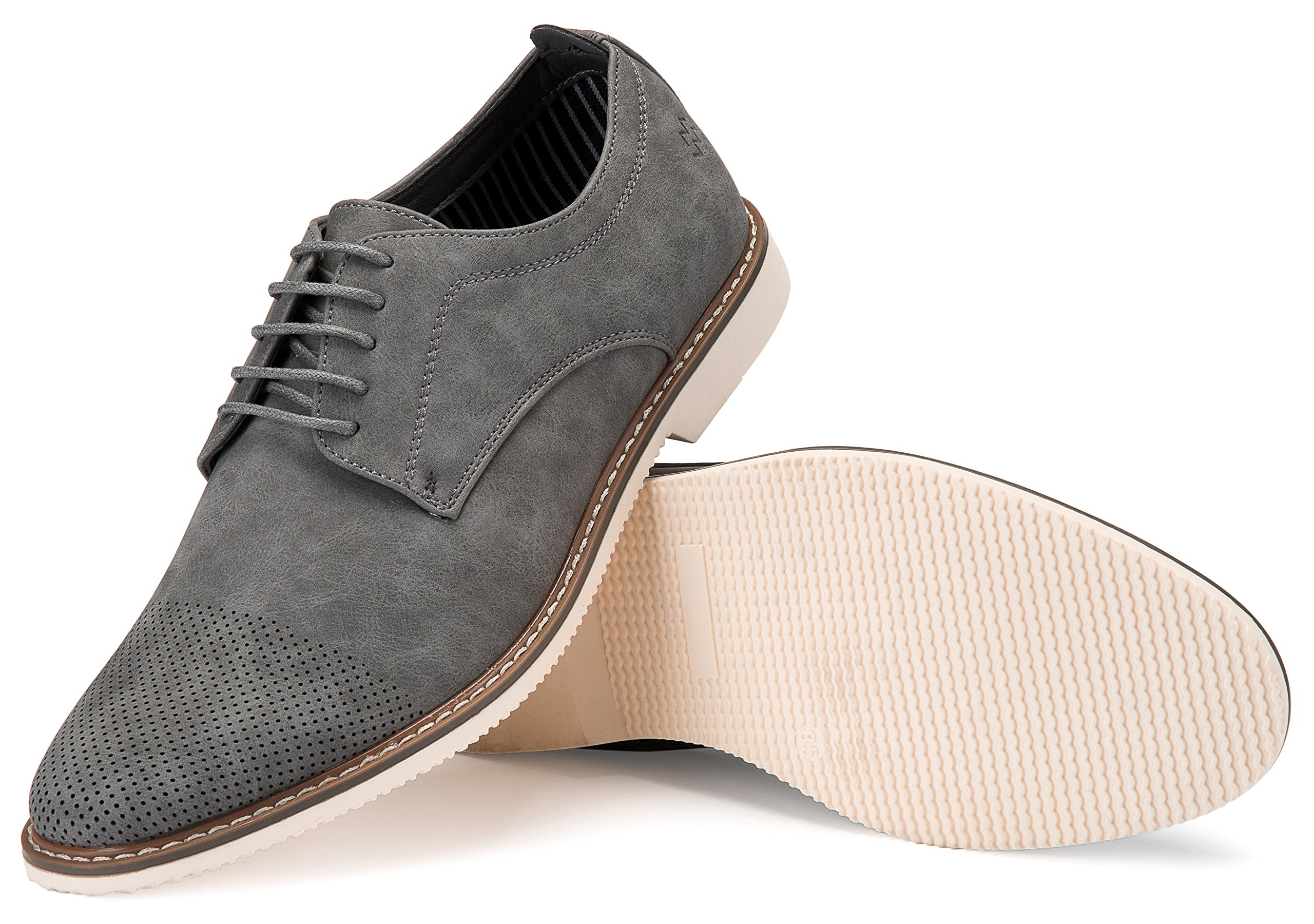 Mio Marino Mens Casual Shoes - Suede Shoes - Perforated Toe - Oxford Shoes for Men, in A Shoe Bag