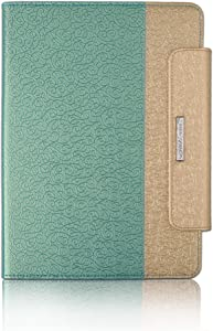 Thankscase Case for iPad Pro 11-inch 2018, Rotating Case Cover with Apple Pencil Holder, Wallet Pocket, Hand Strap, Smart Cover for iPad Air 4th Gen.(Gold Jade)