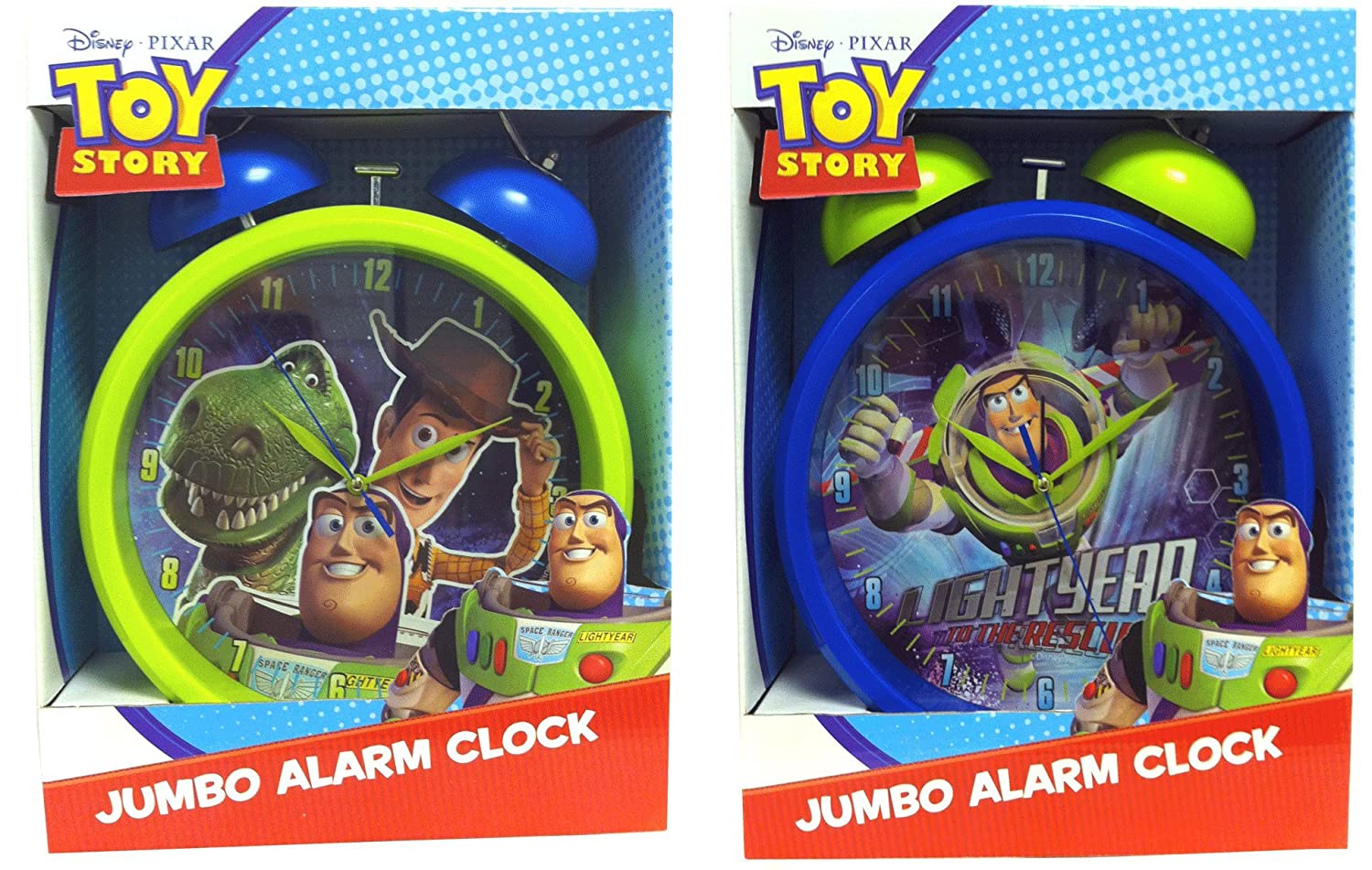Toy Story Jumbo Alarm Clock - Battery Operated - Choice of 2 Designs Universal