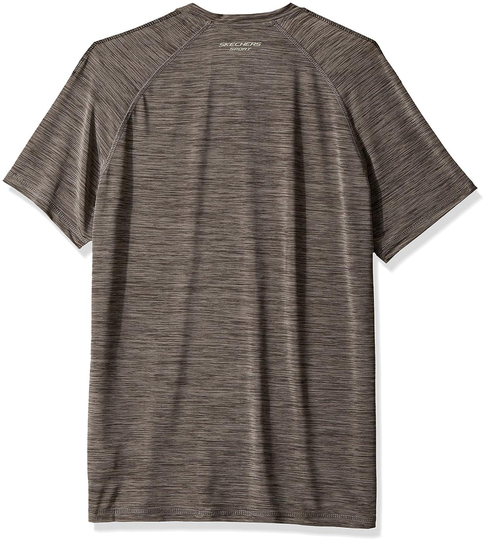 1f443cb8cee4 Amazon.com  Skechers Men s Slick Space Dye Short Sleeve Shirt  Clothing