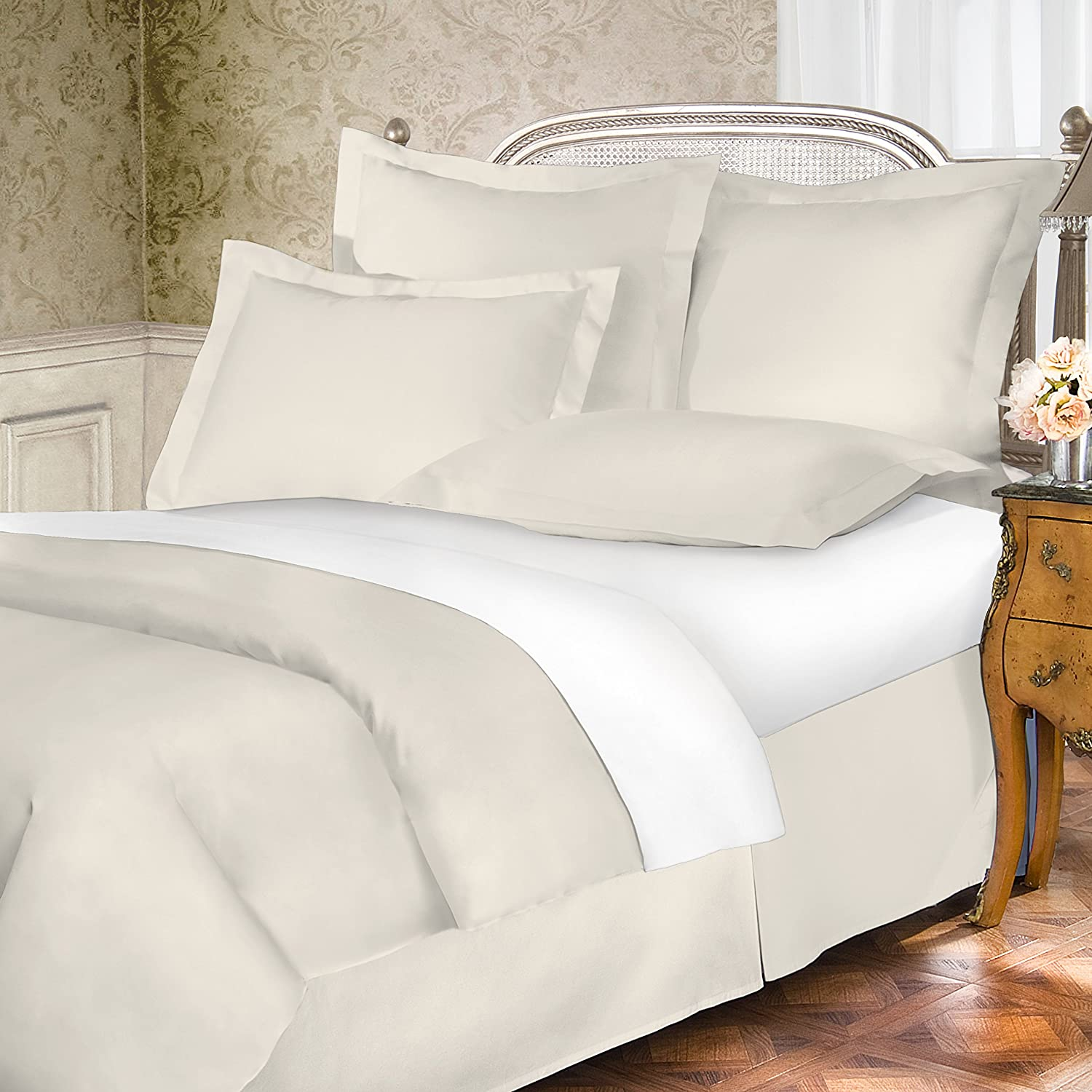 Belles /& Whistles 400 TC Pillow Shams King Ivory