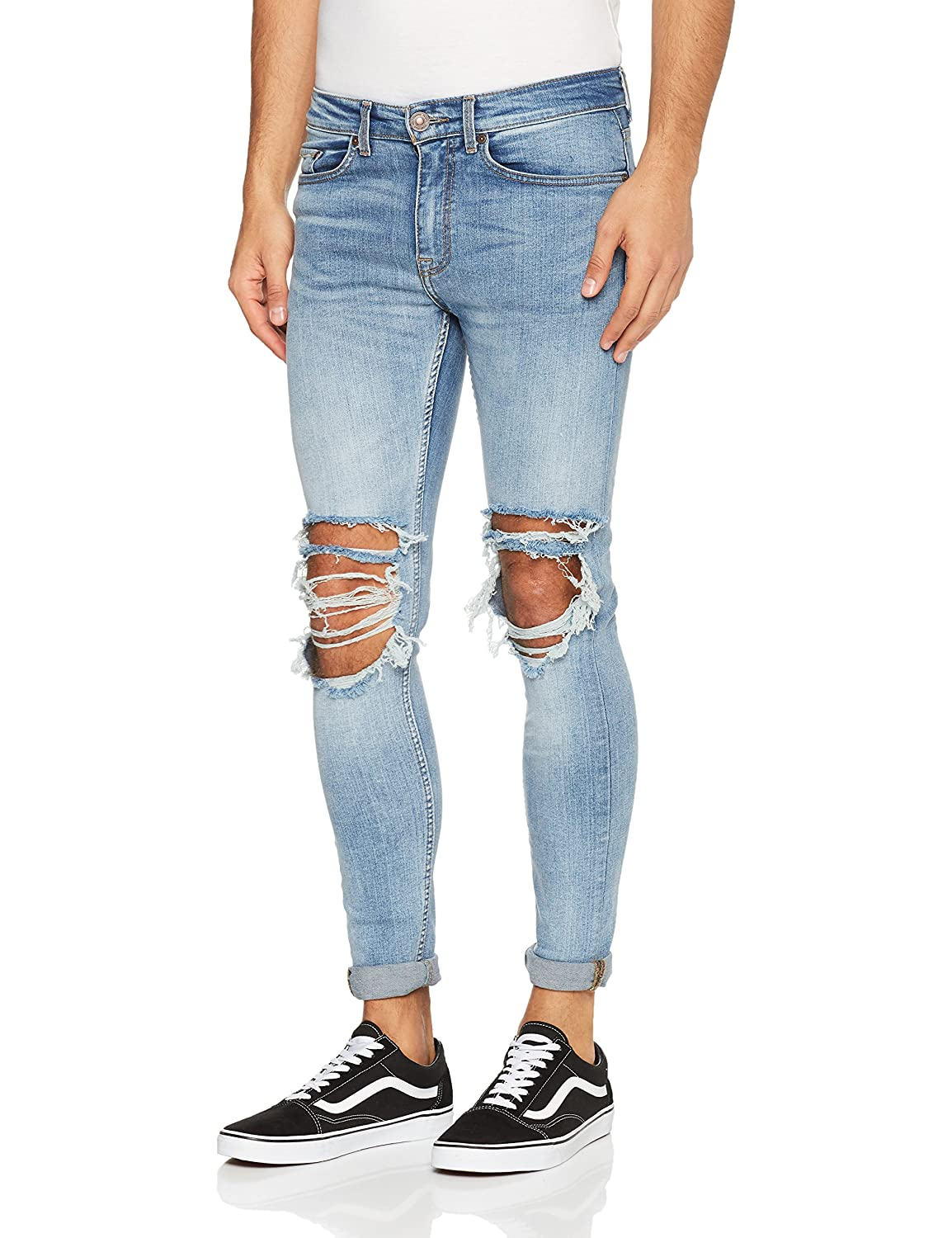New Look Tom Light Rip Superskinny Vaqueros Skinny para Hombre