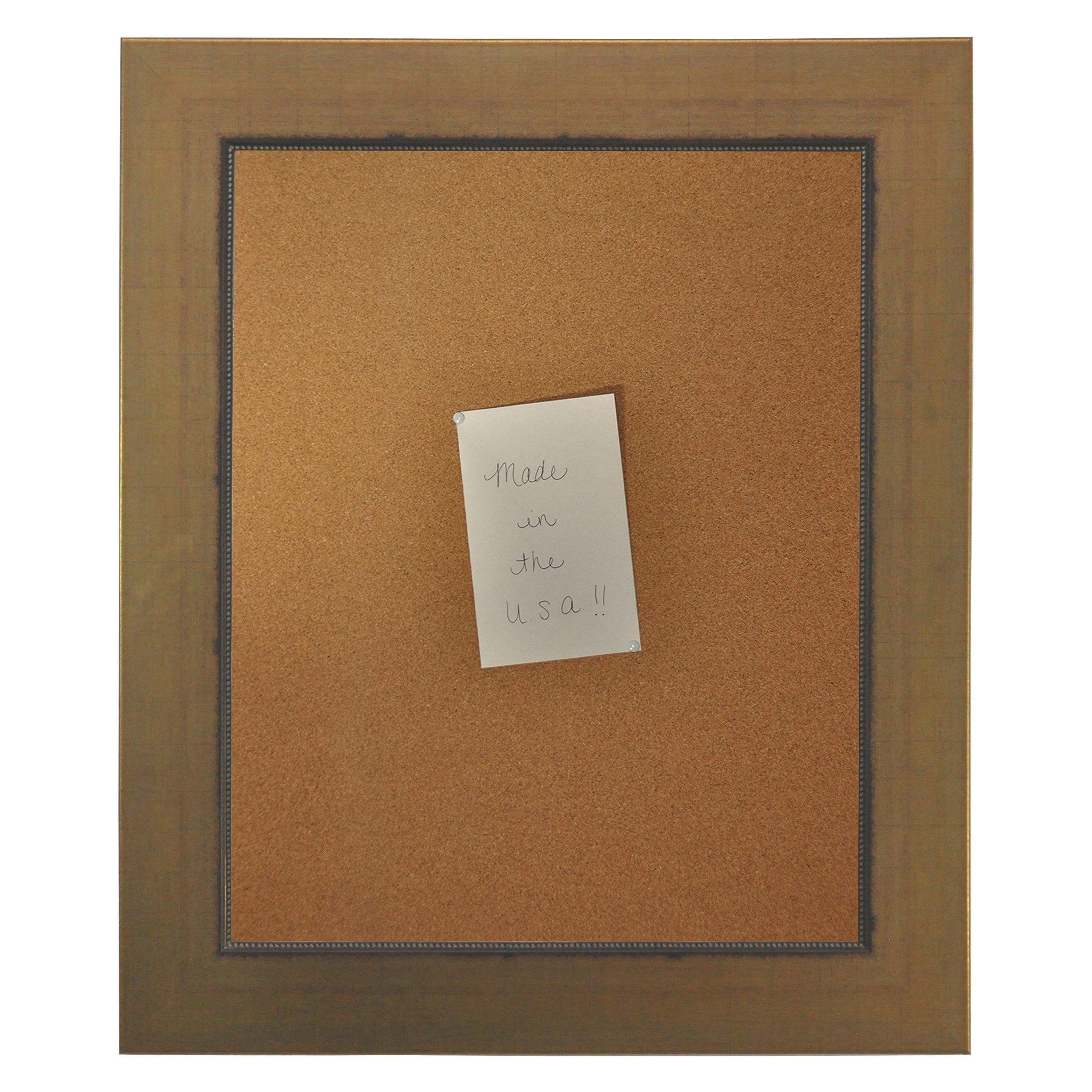Rayne Mirrors American Made Rayne Golden Lowe Corkboard Exterior Size: 17 x 29