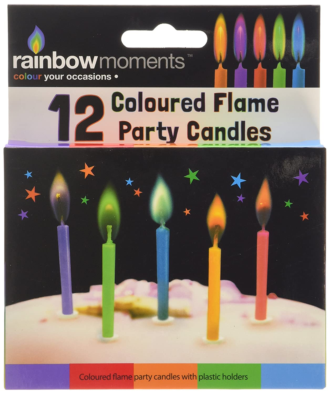 Boxer Gifts Kerzen für Geburtstagstorte mit farbiger Flamme, 12Stück 12Stück SP7201