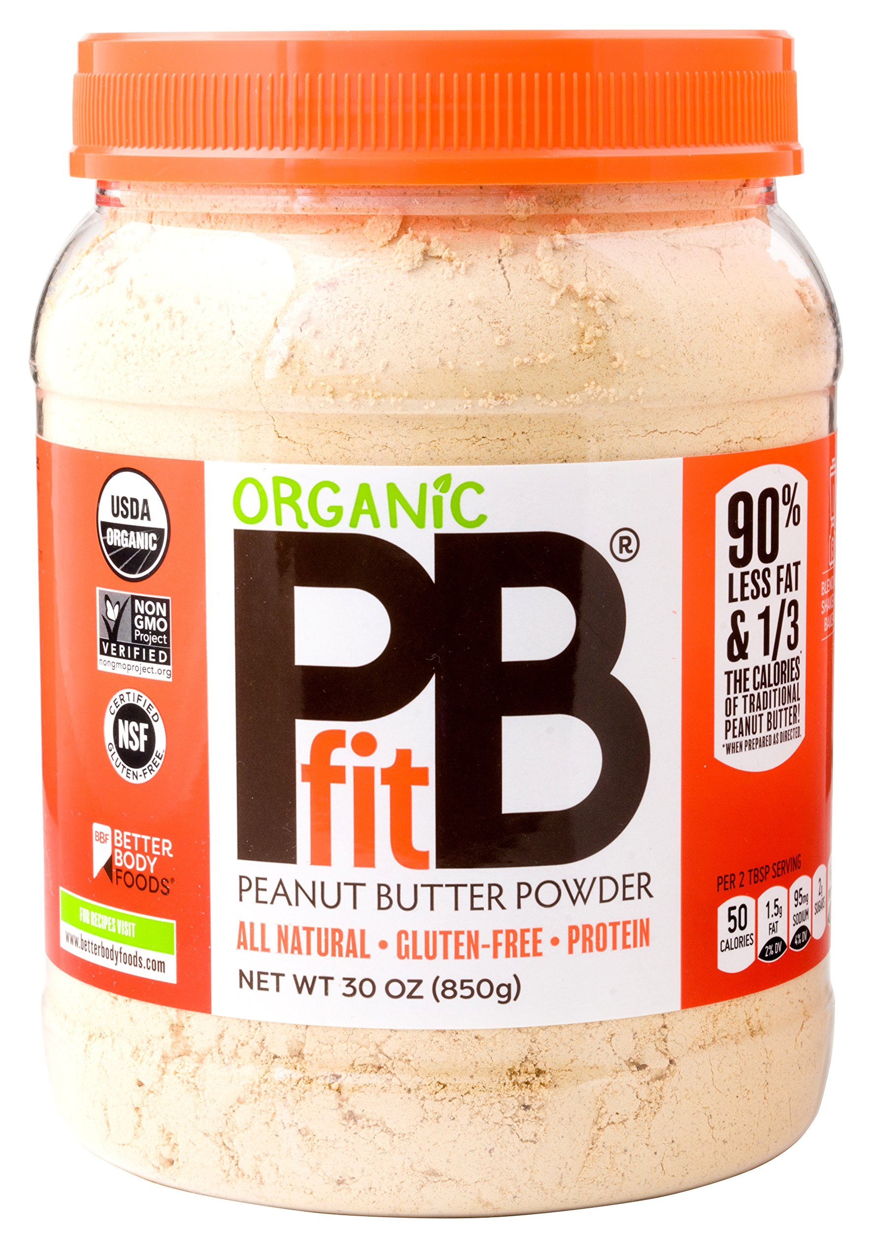 PBfit Organic All-Natural Peanut Butter Powder, 30 Ounce