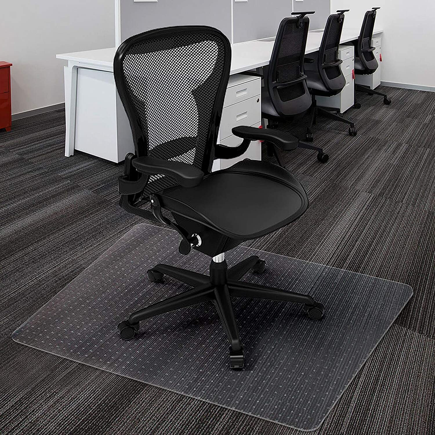 Azadx Home Office Chair Mat for Low, Standard and No Pile Carpeted Floors, Transparent Carpet Protector (30 x 48'' Rectangle)