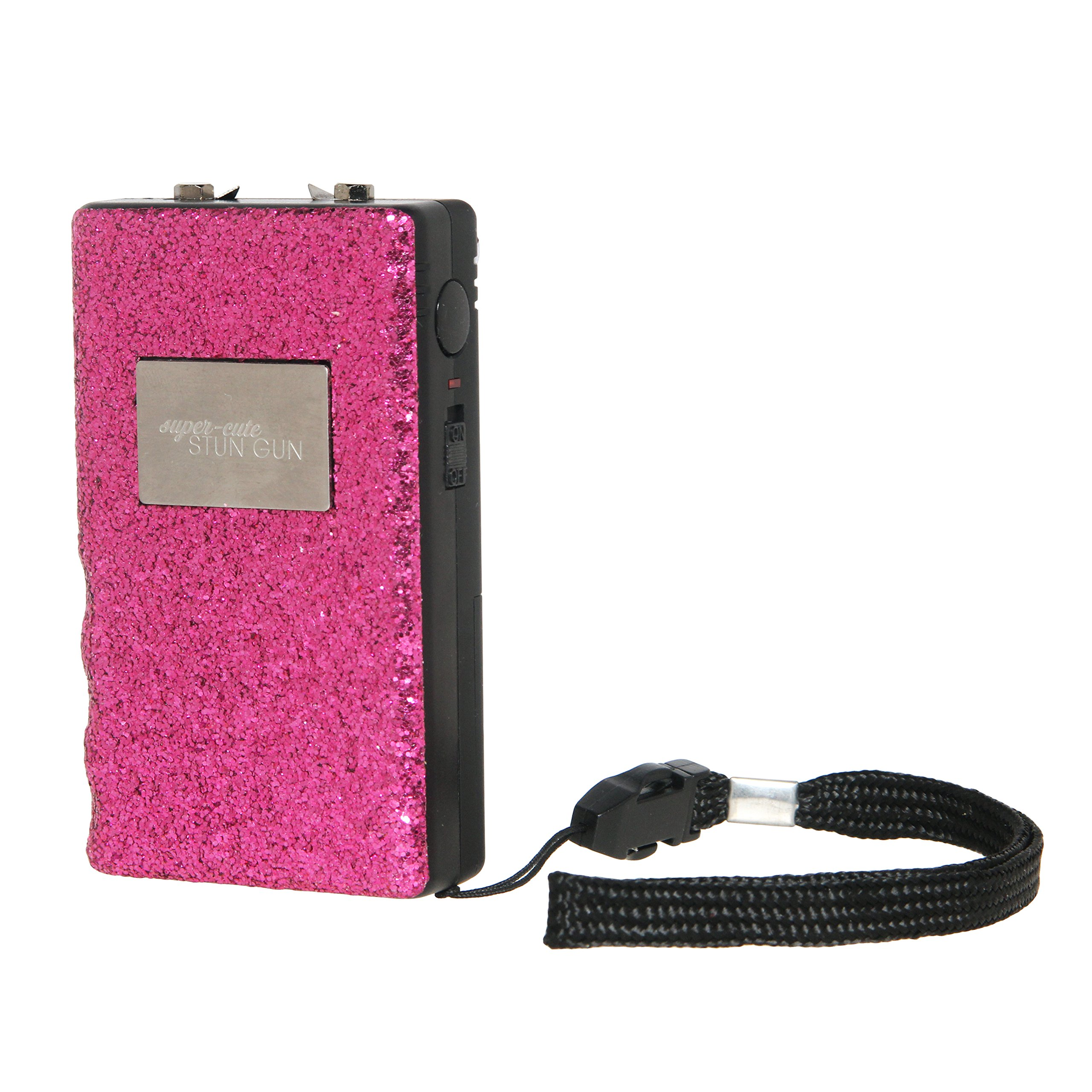 Cute Stun Gun Compact for Women - Self Defense Stun Gun Compact Size Weapon for Pocket, Purse, or Car, Pink Glitter