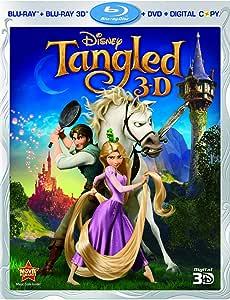 Tangled [Blu-ray 3D + Blu-ray + DVD + Digital Copy] (Bilingual)