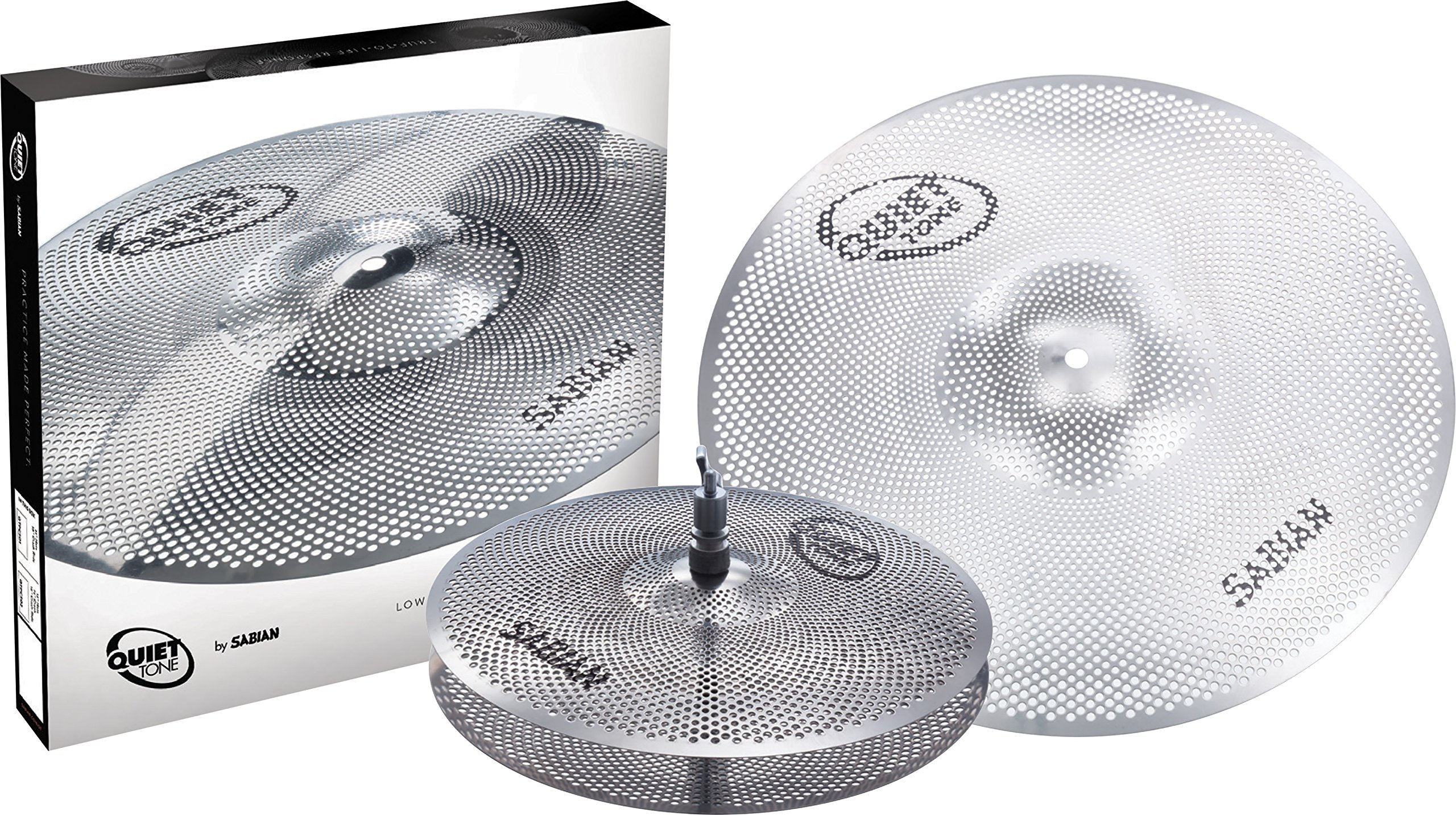 Sabian QTPC501 Quiet Tone Practice Cymbal Set -Silver- 13''/18'' (QTPC501) by Sabian