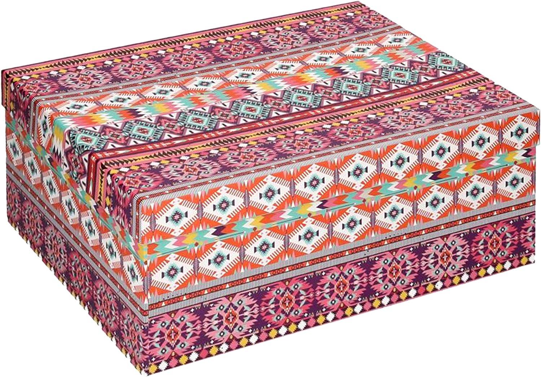 Vacchetti S.p.A - Caja de cartón Decorada étnica, 35 x 25 x 13 cm ...
