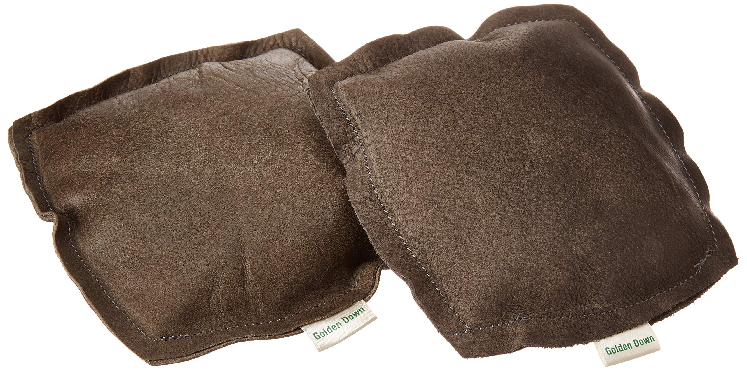 Golden Down Authentic Pair of Elbow Leather Cushions, Premium Elbow Support Pads with Soft Microfiber, Crafted from Carefully Selected Excess New Genuine Leather, Random Color (6''x6'') by Golden Down
