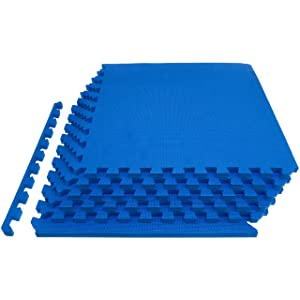 Prosource Fit Extra Thick Puzzle Exercise Mat, EVA Foam Interlocking Tiles for Protective, Cushioned Workout Flooring for Home and Gym Equipment