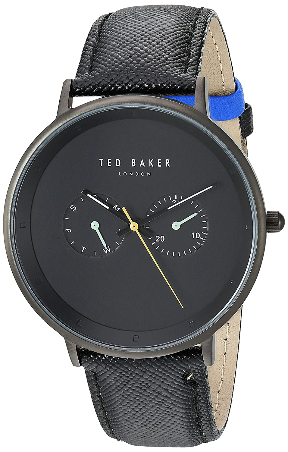 Amazon.com: Ted Baker Mens Brad Quartz Stainless Steel and Leather Casual Watch: Watches
