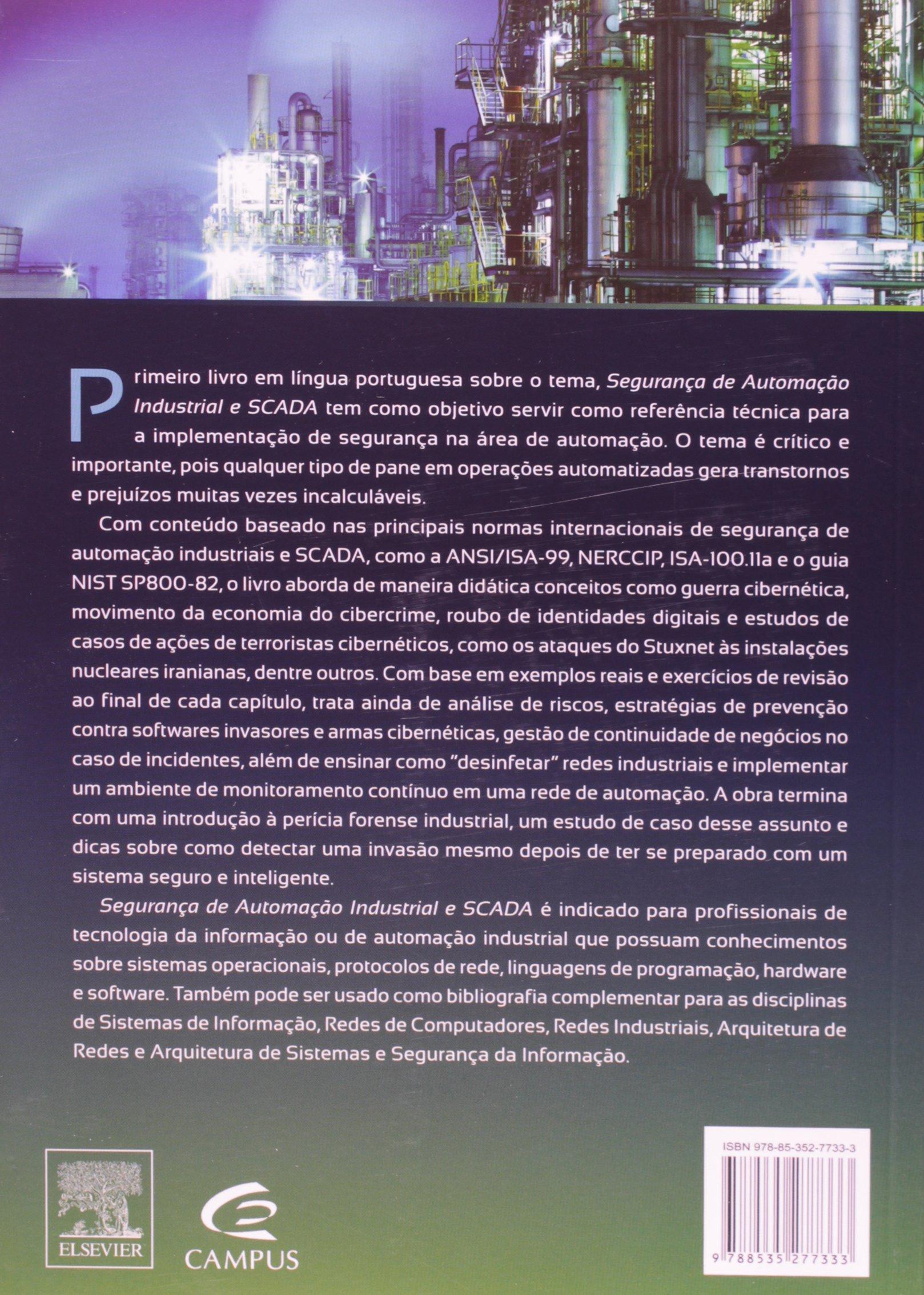 Seguran A De Automa O Industrial E Scada 9788535277333 Livros