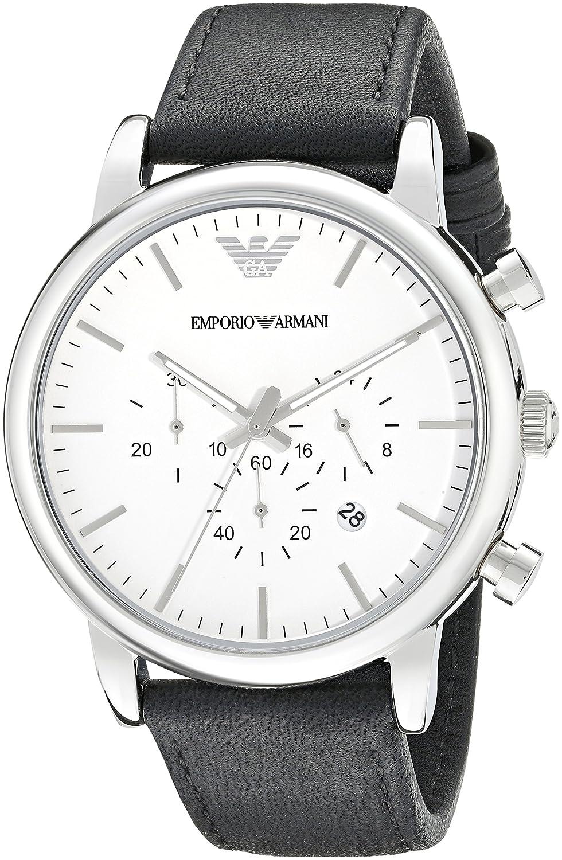 Emporio Uhren 32003309 Leder Herren Quarz Analog Armani mnwNPv8Oy0