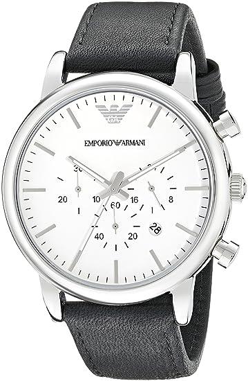 9e46bd62b835 Emporio Armani Reloj para Hombre de Cuarzo con Correa en Cuero AR1807  Emporio  Armani  Amazon.es  Relojes