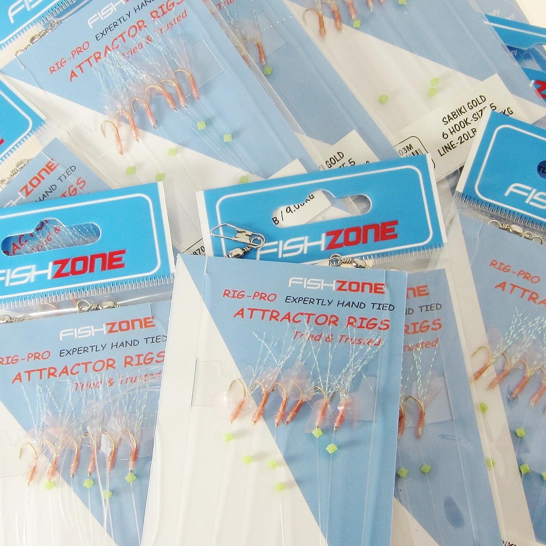 Arenque /Ideal para mar Barco Shore para caballa Graves y Bacalao /10/lotes de un Solo Tipo de Calidad Comercial Pluma de mar se/ñuelo de Pesca Aparejos de Pesca/ Fishzone Rig Pro Series/