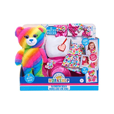 Build A Bear Plush - Rainbow Bear: Toys & Games
