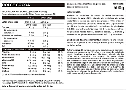 BODY GENIUS Lean Protein (Dulce Cacao). 500g. Whey Isolate ...