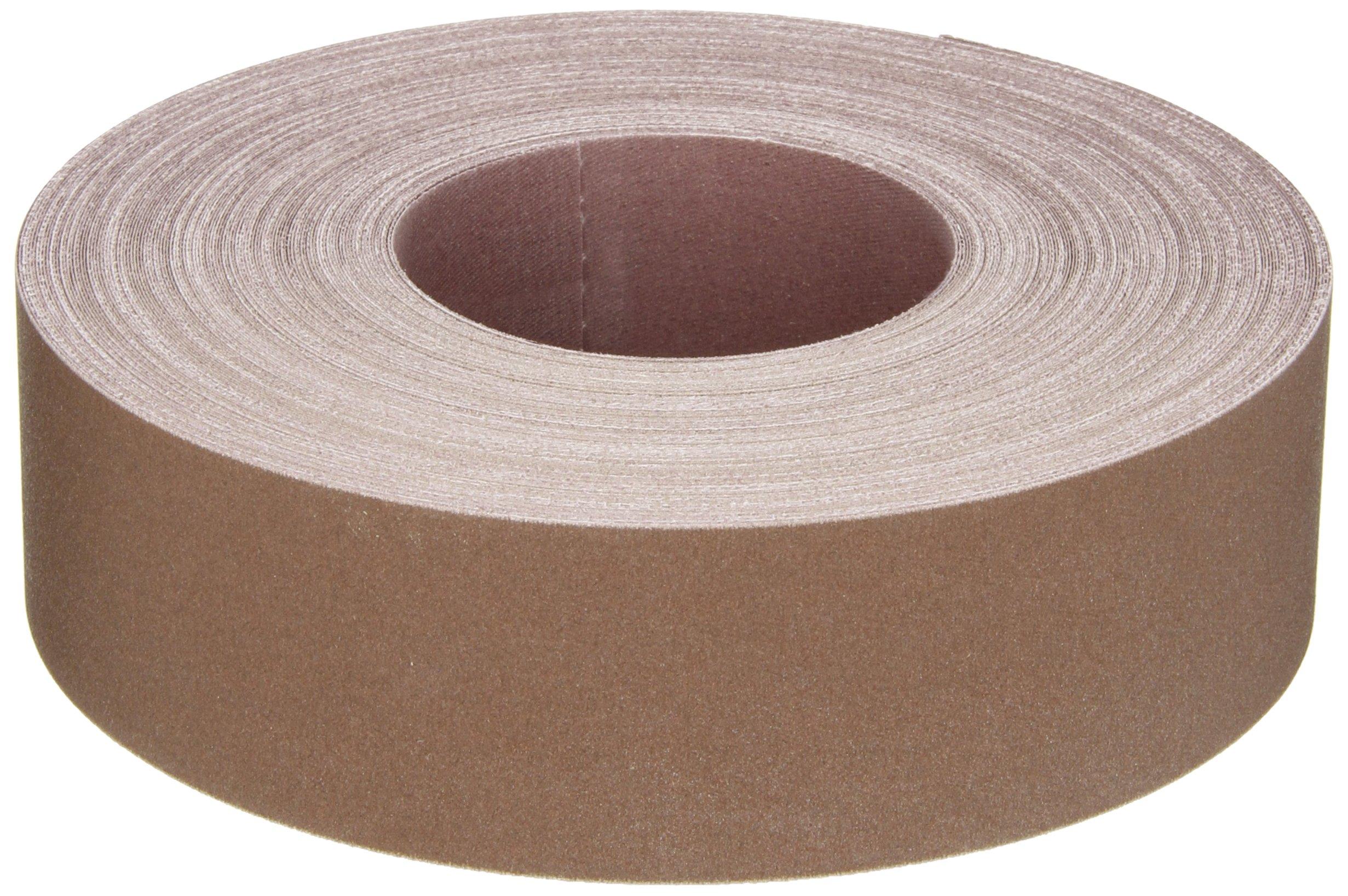 Norton K225 Metalite Abrasive Roll, Cloth Backing, Aluminum Oxide, 2'' Width x 50yd Length, Grit P320