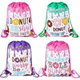 TMCCE Donut Birthday Party Supplies Donut Grow Up Gift Goody Bags Drawstring Bags for Donut Theme Kids Birthday Party Decorat