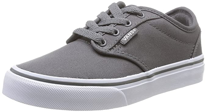 Vans Kids Atwood (Canvas) Pewter White Skate Shoe 1 Kids US  Amazon.in   Watches 009937e9f1b