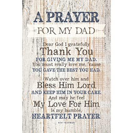 Amazoncom Dad Father Prayer Wood Plaque With Inspiring Quotes