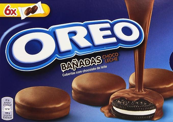 Oreo Bañadas - Galletas Cubierto de Chocolate con Leche - 6 bolsas de 2 galletas
