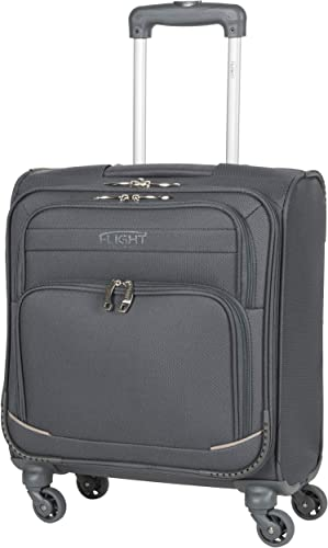 Flight Knight Lightweight 4 Wheel 300D Soft Case Suitcases Maximum Size For Vueling – Cabin Charcoal FFK0032_S