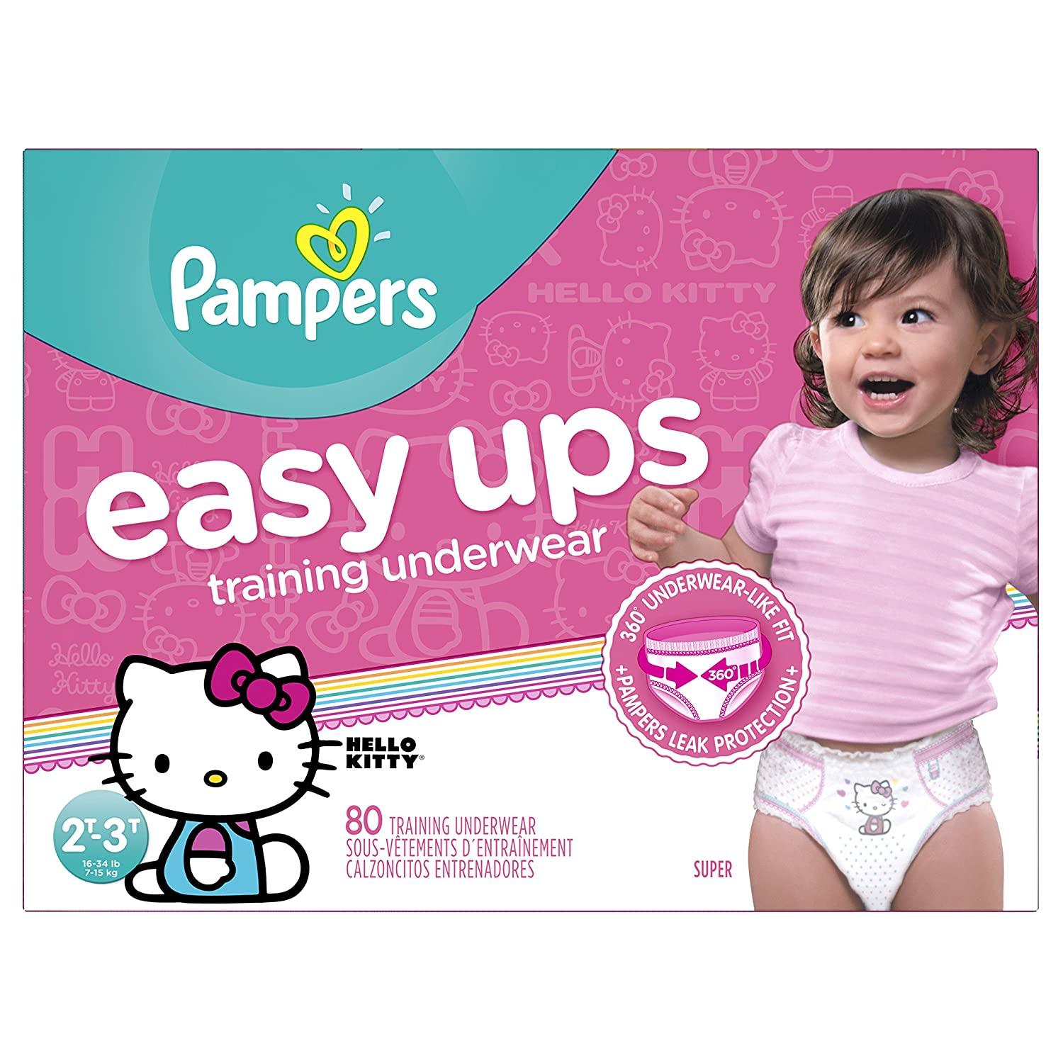 amazon com pampers easy ups training underwear girls 2t 3t size