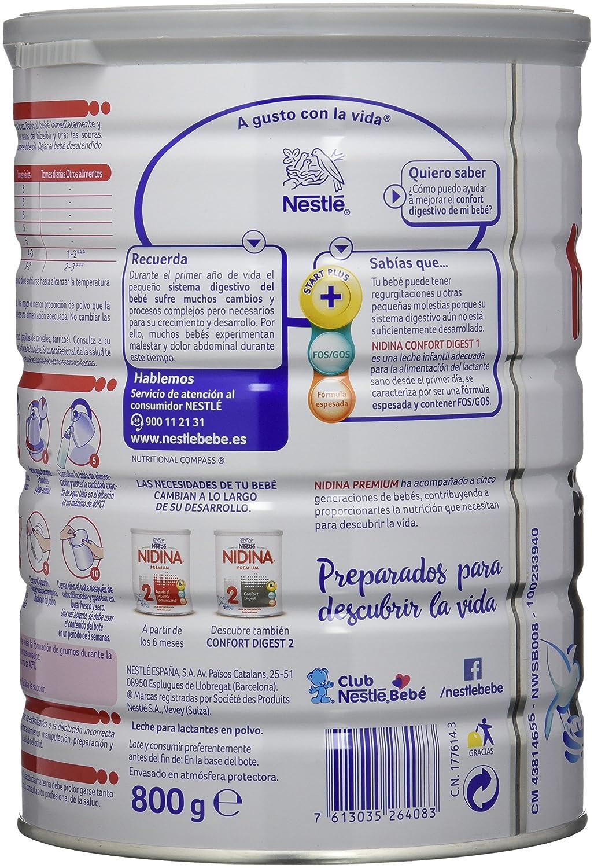 Nidina 1 Premium Confort Digest Leche para Lactantes en Polvo - 800 gr: Amazon.es: Amazon Pantry