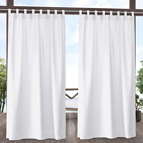 Exclusive Home Curtains Biscayne Indoor/Outdoor Two Tone Textured Tab Top Curtain Panel