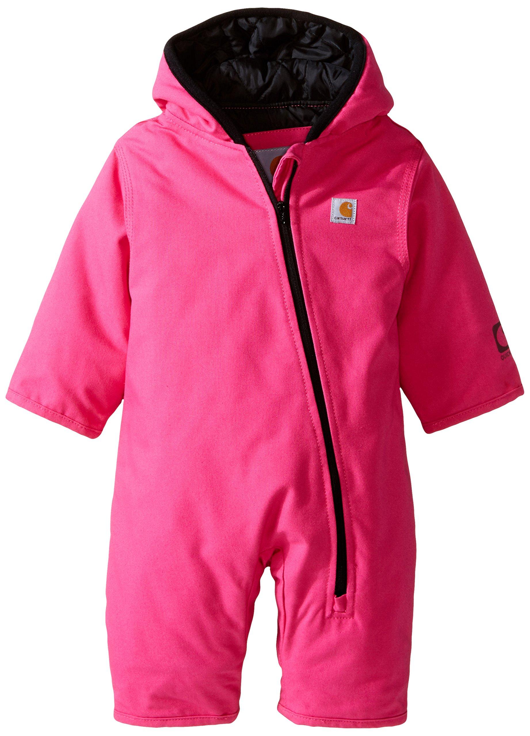 Carhartt Baby Girls' Quick Duck Snowsuit Taff Lined, Pink, 6 Months by Carhartt