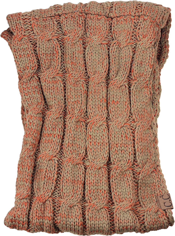 NYFASHION101 Soft Winter Warm Chunky Knit Cowl Infinity Loop Scarf Red