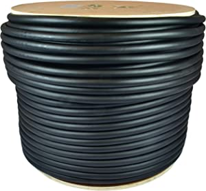 GLS Audio 500 feet Bulk Professional Speaker Cable 12AWG 4 Conductor Black - 12 Gauge Patch Cord 12/4 Wire - Pro 500' Spool Roll 12G 4 Cond Bulk