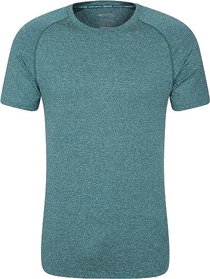 Mountain Warehouse Camiseta a Rayas IsoCool Agra para Hombre - Protección UPF30+ - Manga Corta - Ligera y Secado rápido - Transpirable - para Senderismo, Correr, Viajes: Amazon.es: Ropa y accesorios