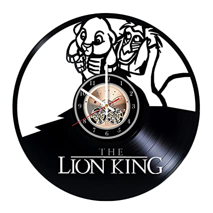 df22601ce8c Amazon.com: Wood Workshop The Lion King Pumba Vinyl Record Wall Clock - Get  unique bedroom or living room wall decor - Gift ideas for him and her: Home  & ...