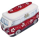 Brisa BUNE41 Sac de Universel VW Combi T1 Flowers, Rouge/Blanc