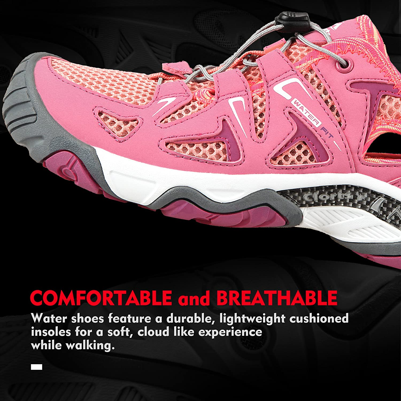 e12d785fbaf3 ... Clorts Women s Water Shoe Closed Toe Quick Drying Hiking Sandal Sandal  Sandal 3H027 B073P5MJJG 5.5 M ...
