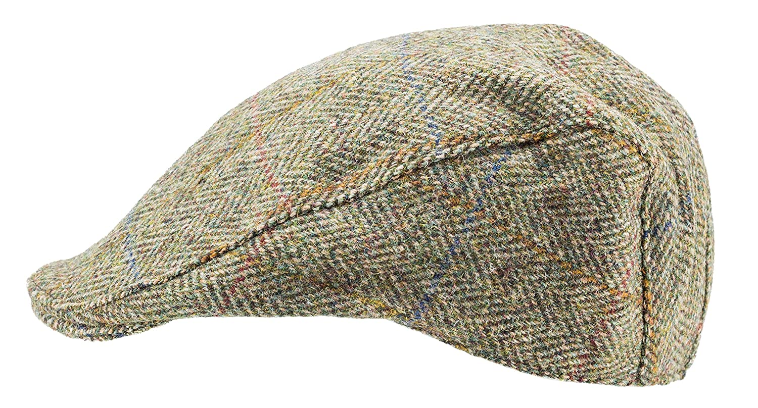 fe23fd8b059 Harris Tweed.Made in Scotland.The Dundee  Brad Pitt  Style Flat Cap.made by  Hanna Hats at Amazon Men s Clothing store