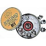 JOKUMO 11 Piece Round Linzer Cookie Cutter Set – High Grade 430 Stainless Steel - with Storage Tin