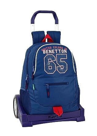 Benetton UCB Boy Oficial Mochila Espalda Ergonómica Con Carro Safta Evolution: Amazon.es: Ropa y accesorios