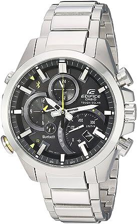 0138c7569c50 Casio Men s Edifice Solar Connected Quartz Watch with Stainless-Steel  Strap