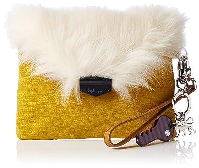 Furry PHAENNA Damen Handgelenkstaschen 20x16x1 cm (B x H x T), Gelb (34N Mustard Yellow) Kipling