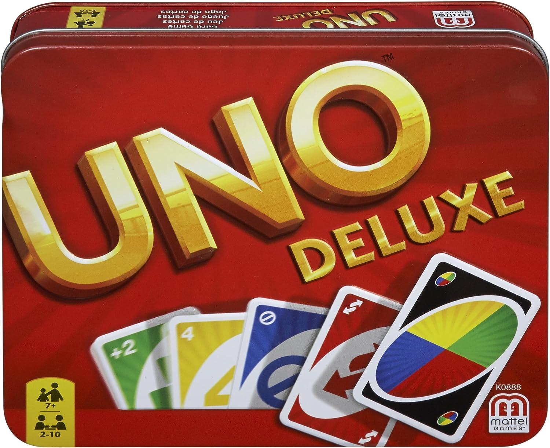 Mattel Games K0888 UNO Deluxe Gioco di Carte per 2-10 giocatori, 7...