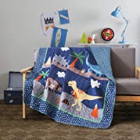 Soul & Lane Dino Delight Quilted Throw Blanket - 50